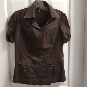 Willi Smith short sleeve blouse size small